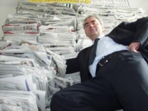 Na gazetach
